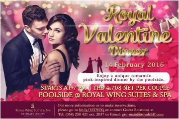 Enjoy a Magical Pink Themed Royal Valentine Dinner at the Royal Wing Suites & Spa