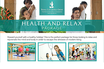Reward Your Body with Royal Cliff's Health & Relax Package
