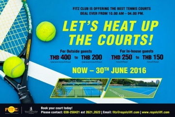 Book Now for June! Take Advantage of Fitz Club's Reduced Hourly Rates for Tennis Courts