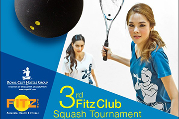 Royal Cliff Organizes 3rd FITZ Club Squash Tournament