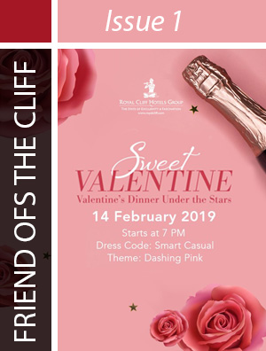 On 14 February 2019, celebrate a dashing pink-themed Valentine's Day with us! Wine and dine the night away in 2 incredible restaurants for a romantic evening with your loved one.