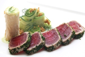 Herb Coated Tuna Loin