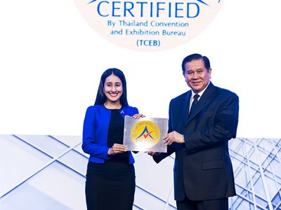 PEACH Awarded Thailand MICE Venue Standard Certificate for Service Excellence and Quality