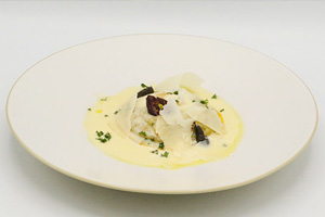 Ravioli Uovo with Truffle Potato Mousse