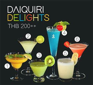 Daiquiri Delights @ The Royal Cliff Beach Hotel & The Royal Cliff Grand Hotel