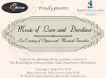 Music of Love and Devotion: An Evening of Opera and Musical Favorites