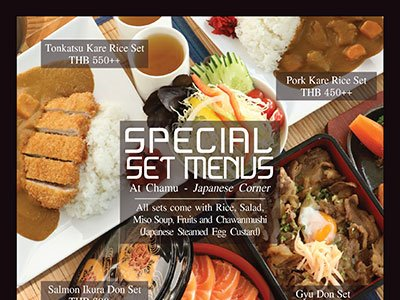 Special Set Menus at Chamu - Japanese Corner