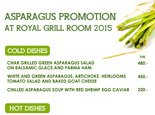 Asparagus Promotion at Royal Grill Room & Wine Cellar