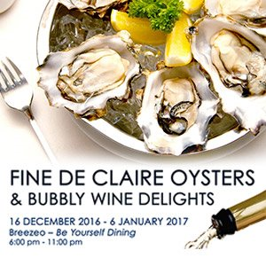 Fine De Claire Oysters & Bubbly Wine Delights