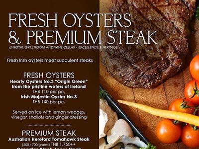 Fresh Oysters & Premium Steak