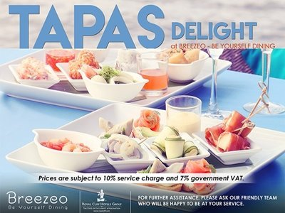 Tapas Europe & Asian at Breezeo